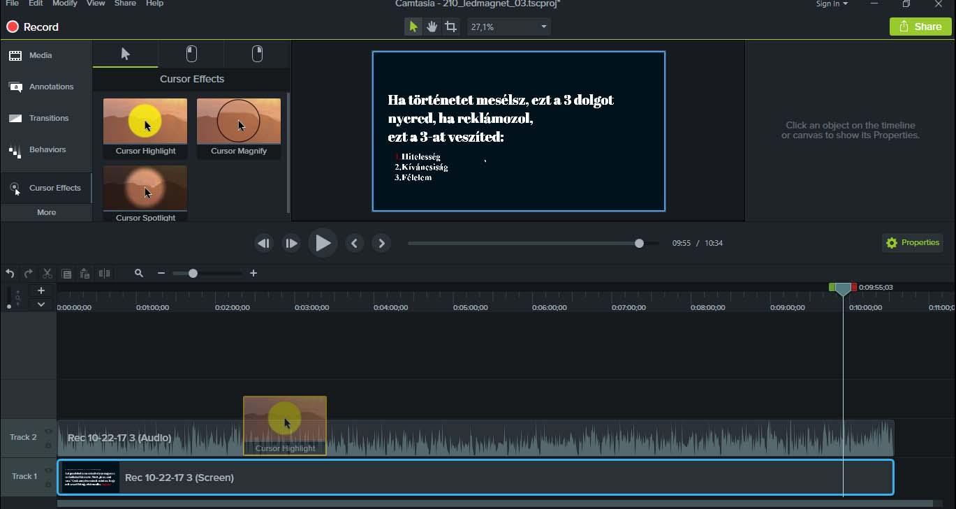 Hogyan kell kevés megás, FULL HD képernyővideót csinálni? 6