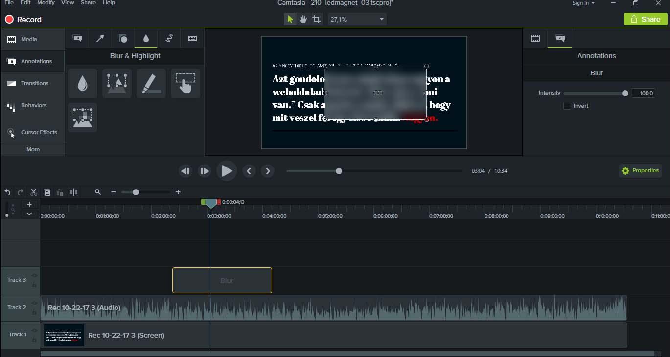 Hogyan kell kevés megás, FULL HD képernyővideót csinálni? 7