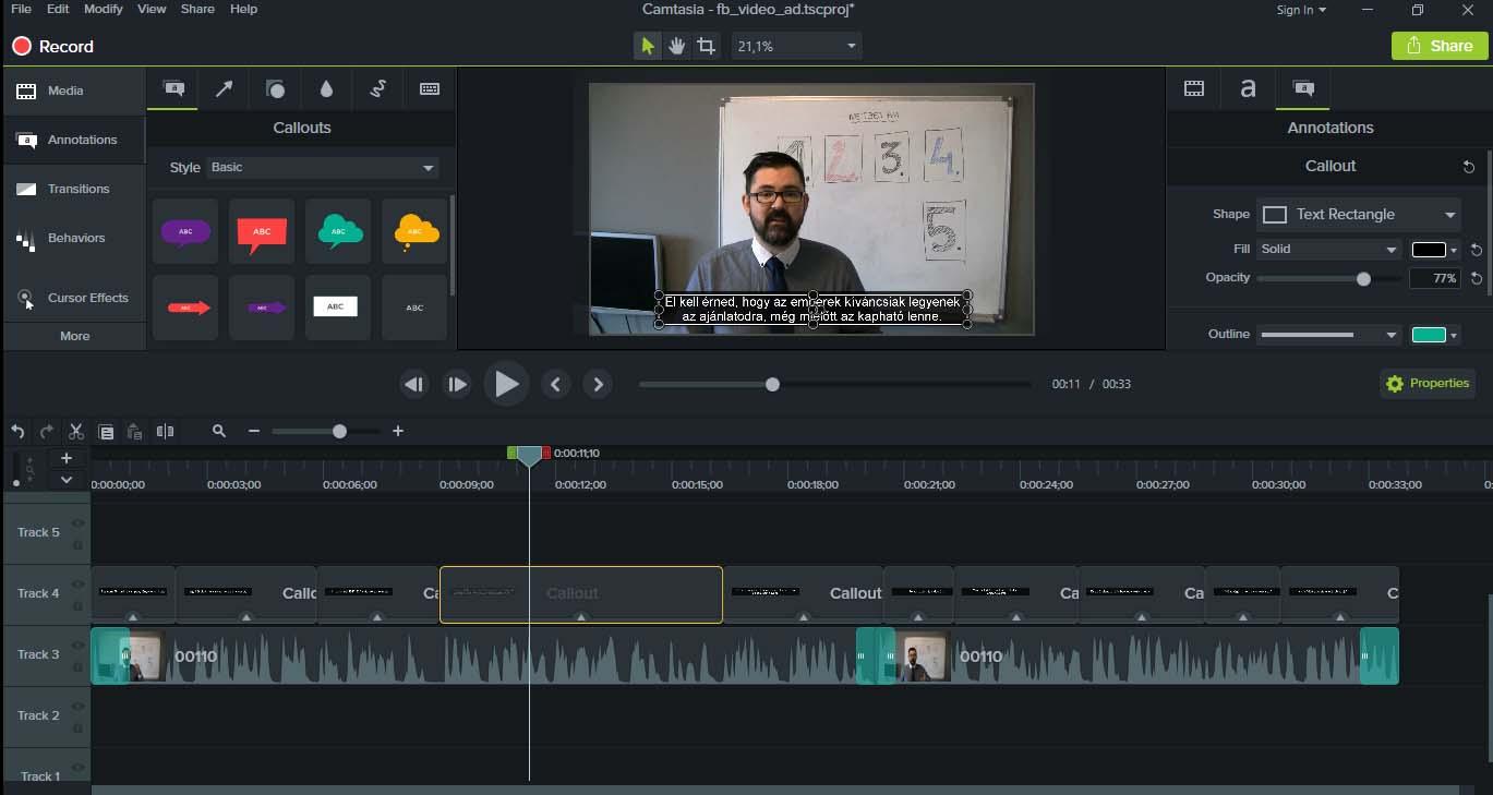 Hogyan kell kevés megás, FULL HD képernyővideót csinálni? 8