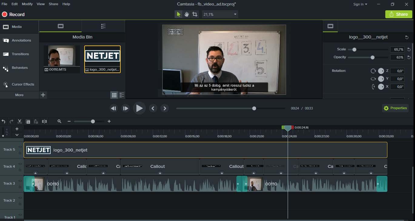 Hogyan kell kevés megás, FULL HD képernyővideót csinálni? 10
