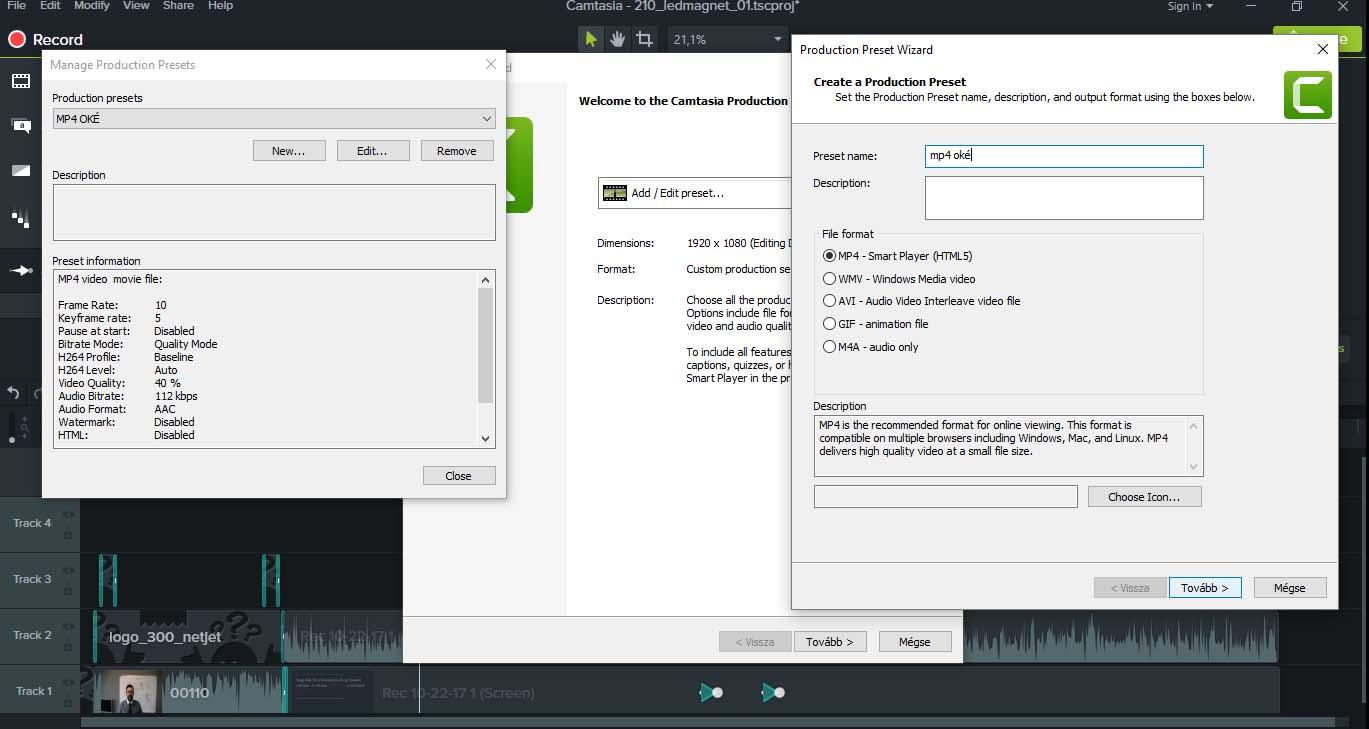 Hogyan kell kevés megás, FULL HD képernyővideót csinálni? 11