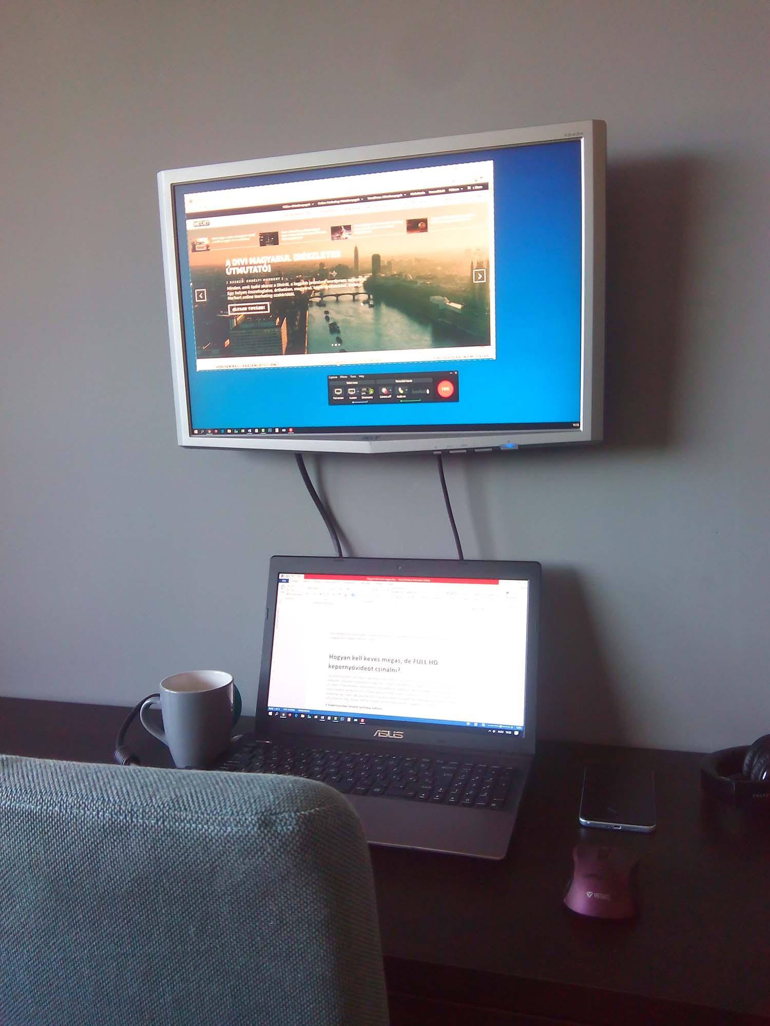 Hogyan kell kevés megás, FULL HD képernyővideót csinálni? 3