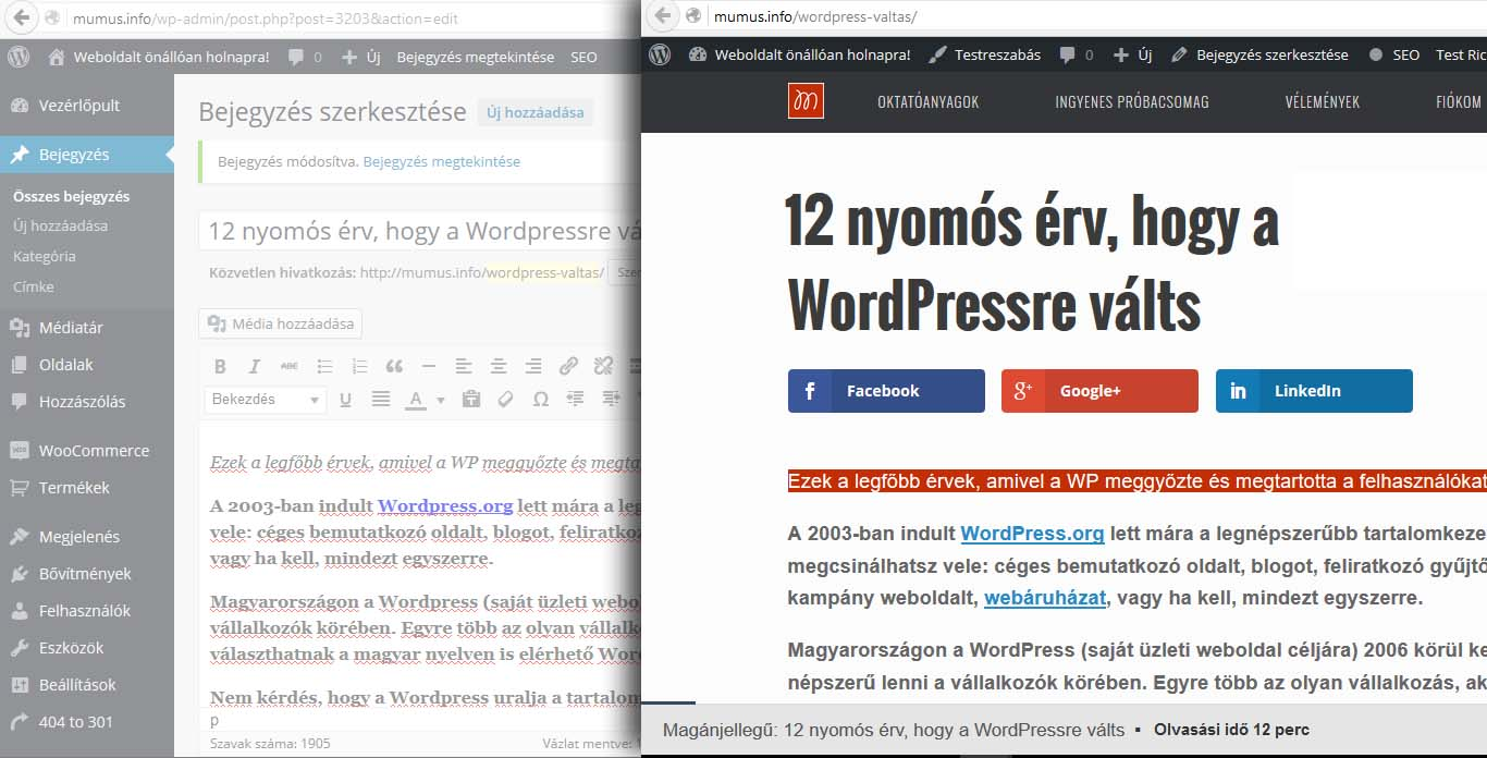 Wordpress kívül-belül.