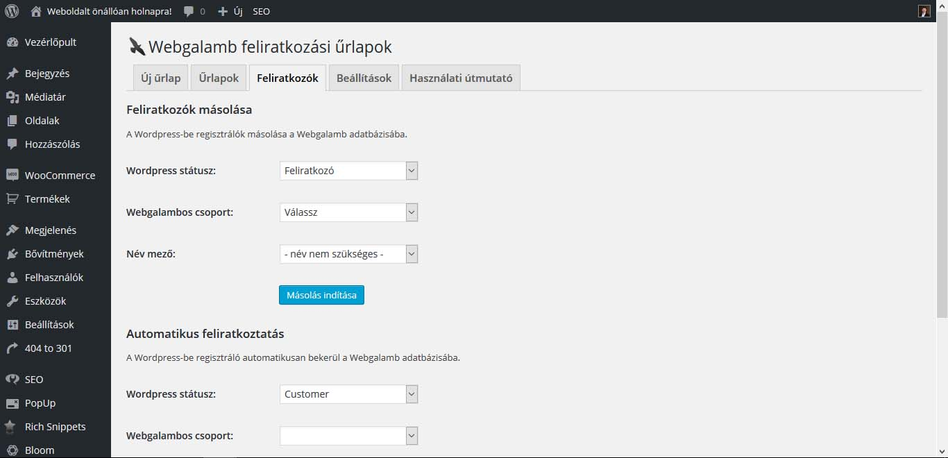 Wordpress Webgalamb