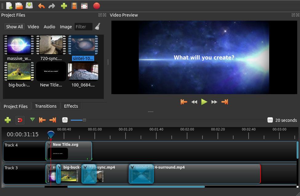 Openshot ingyenes videószerkesztő